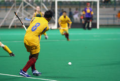Hockey In Action. Hockey player in action (Motion blur effect Stock Photo