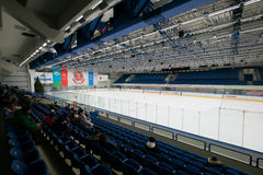 Hockey arena before the match between the teams Stock Photography