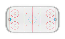 Hockey arena on white Royalty Free Stock Images