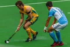 Hockey Argentina internazionale V Sudafrica Immagini Stock Libere da Diritti