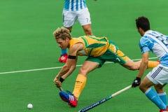 Hockey Argentine internationale V Afrique du Sud Photographie stock