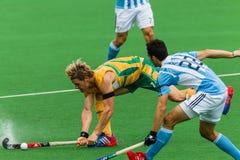 Hockey Argentine internationale V Afrique du Sud Images stock