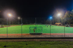 Hockey Astro Field Players Night Practice Royalty Free Stock Photos