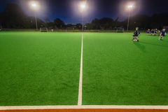 Hockey Astro Night Practice Royalty Free Stock Image