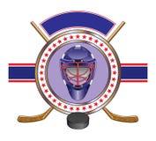 Hockey-Auslegungs-Schablonen-Fahne stock abbildung
