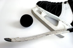 Hockey-Ausrüstung stockbilder