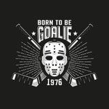 Hockey authentiek retro embleem vector illustratie