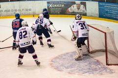 Hockey avec le galet, Photographie stock libre de droits