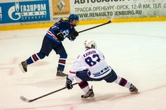 Hockey avec le galet Image stock
