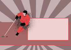 Hockey background Stock Photo