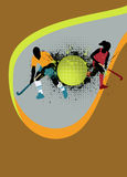 Hockey background. Grass hockey sport poster background with space Royalty Free Stock Photo