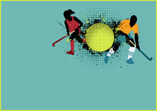Hockey background. Grass hockey sport poster background with space Royalty Free Stock Images