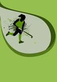 Hockey background. Grass hockey sport poster background with space Stock Photos