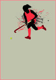 Hockey background. Grass hockey sport poster background with space Royalty Free Stock Image