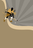 Hockey background. Grass hockey sport poster background with space Stock Photo