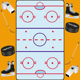 Hockey background card. This image represents and ice hockey background concept Royalty Free Stock Photo