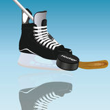 Hockey background card. This image represents and ice hockey background concept Stock Photo