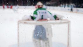 Hockey background for goalkeeper statistic stock video footage