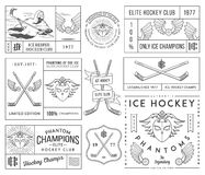 Hockey badges and lables vol. 2 Royalty Free Stock Photos