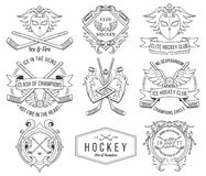 Hockey badges and lables vol.1 Stock Photo