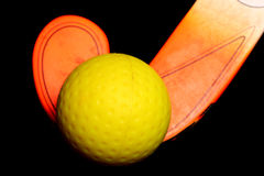 Hockey ball and stick Royalty Free Stock Images