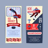Hockey Banners Set Royalty Free Stock Photo