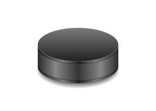 Hockey black puck vector background Stock Image
