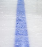 Hockey blue line. On ice Stock Images