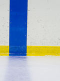 Hockey blue line. For sports background Royalty Free Stock Photo