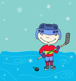 Hockey boy Royalty Free Stock Image