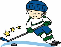 Hockey Boy Stock Photo
