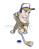 Hockey cartoon character man Royalty Free Stock Photos