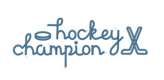 Hockey Champion Decoration Stock Photography