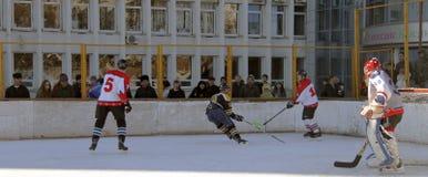 Hockey championship The Cup of Mayor Pyatigorsk Stock Photo