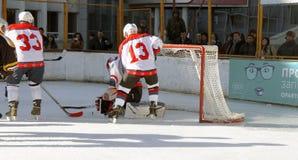 Hockey championship The Cup of Mayor Pyatigorsk Royalty Free Stock Image