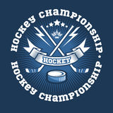Hockey championship logo labels. Vector sport Royalty Free Stock Photo