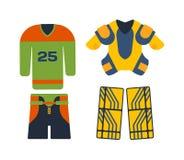 Hockey cloth set. stock illustration