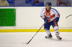 Hockey Club Milan Red Blue : Francesco Borghi Royalty Free Stock Photos