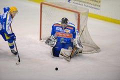 Hockey Club Milan Red Blue vs. H. C. Eppan Appian Royalty Free Stock Photos