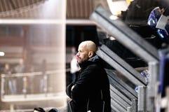 Hockey coach Stock Photo