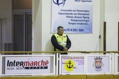 Hockey competition. Vila Praia de Ancora, Portugal - May 13, 2017: Match between ADJ Vila Praia - Gulpilhares against for the 2nd National Hockey Championship royalty free stock photo