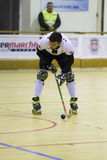 Hockey competition. Vila Praia de Ancora, Portugal - May 13, 2017: Match between ADJ Vila Praia - Gulpilhares against for the 2nd National Hockey Championship royalty free stock photography