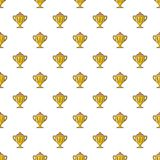 Hockey cup pattern seamless. Hockey cup pattern in cartoon style. Seamless pattern vector illustration Royalty Free Stock Images