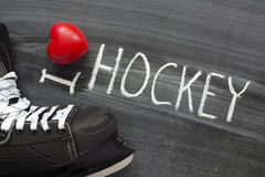 Hockey d'amour Photos libres de droits