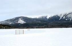 Hockey d'hiver photo libre de droits