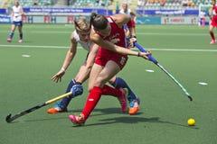 Hockey de coupe du monde les 2014 - les Pays-Bas - Argentine Photo libre de droits