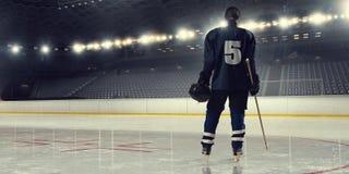 Hockey de jeu de femme Media mélangé photo stock