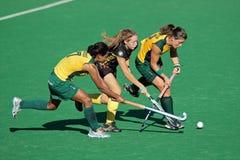 Hockey de zone des femmes Photographie stock