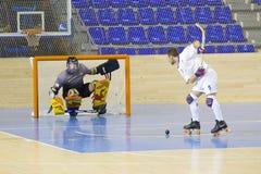 Hockey del rodillo Imagen de archivo