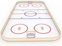 Hockey delle piste di pattinaggio sul ghiaccio Immagini Stock Libere da Diritti